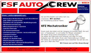 Jobangebot-KFZ-Mechatroniker